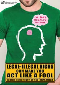 Poster - Legal or Illegal Highs can make you act like a fool