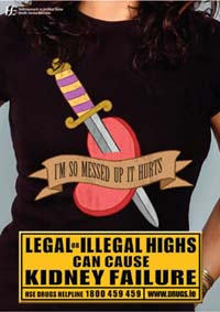 Poster - Legal or Illegal Highs can cause kidney failure