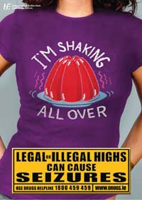 Poster - Legal or Illegal Highs can cause seizures
