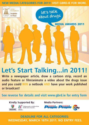Lets Talk about Drugs Media Awards Poster