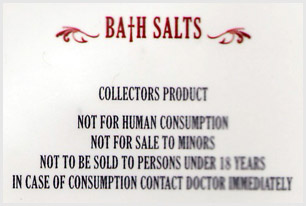 Label from drug packaging saying 'Not for human consumption