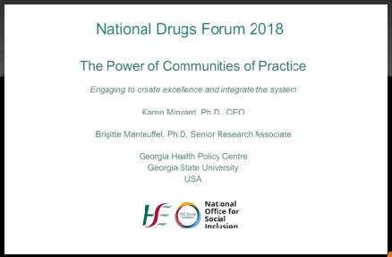 National Drugs Forum 2018 Karen Minyard and Brigitte Manteuffel talk about the power of communities
