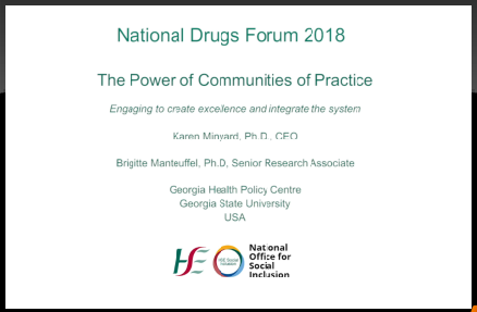National Drugs Forum 2018 Karen Minyard and Brigitte Manteuffel talk about the power of communities